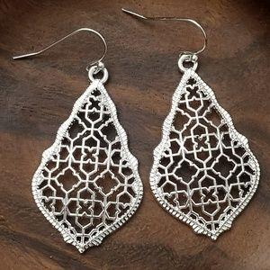 Jewelry - NEW! 💎 Silver Drop Earrings💎 Filigree Hollow